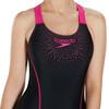 speedo Gala Logo Medalist Strój kąpielowy Kobiety różowy/czarny